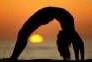 yoga sun set icon